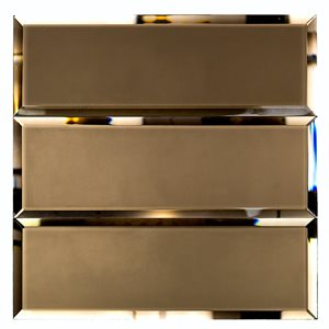 Bronze Beveled 4x12