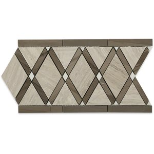 Majestic wooden beige, athens grey and thassos border