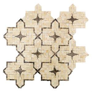 Zagora crema marfil with dark emperador stars and lines