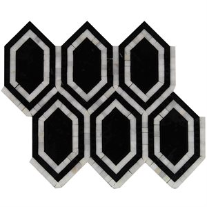 New Era Asian black long hexagon with asian statuary