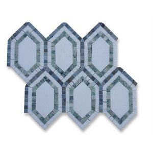 New Era Thassos long hexagon ming green, thassos , lin blue