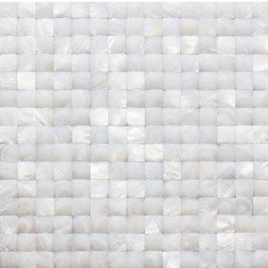 White Pearl 3D Square
