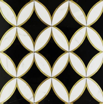 Oblique Nero, Thassos and Brass