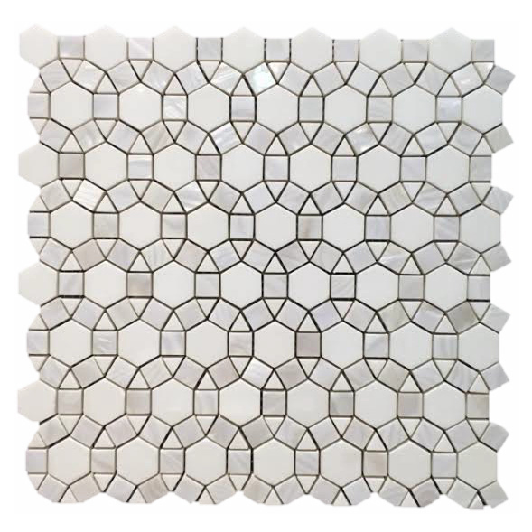 Mother of Pearl Circle Hex