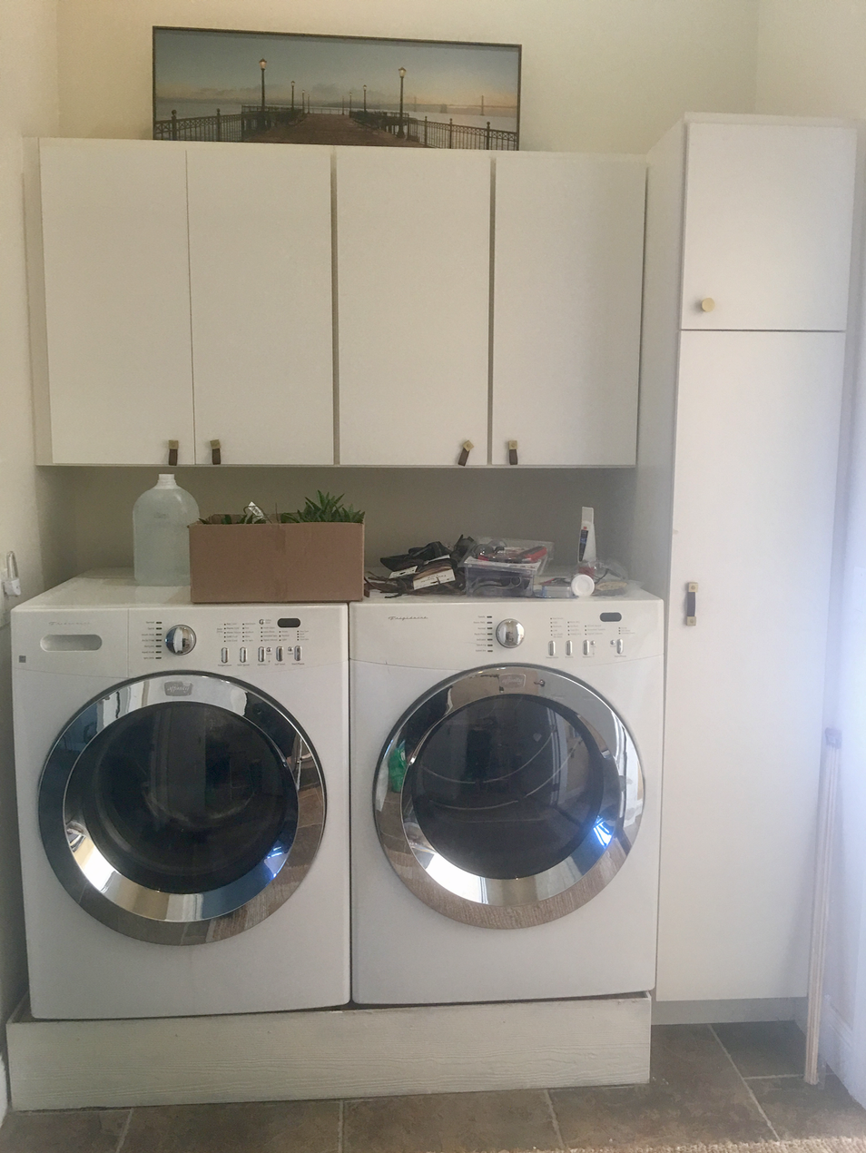 View of the washer/dryer