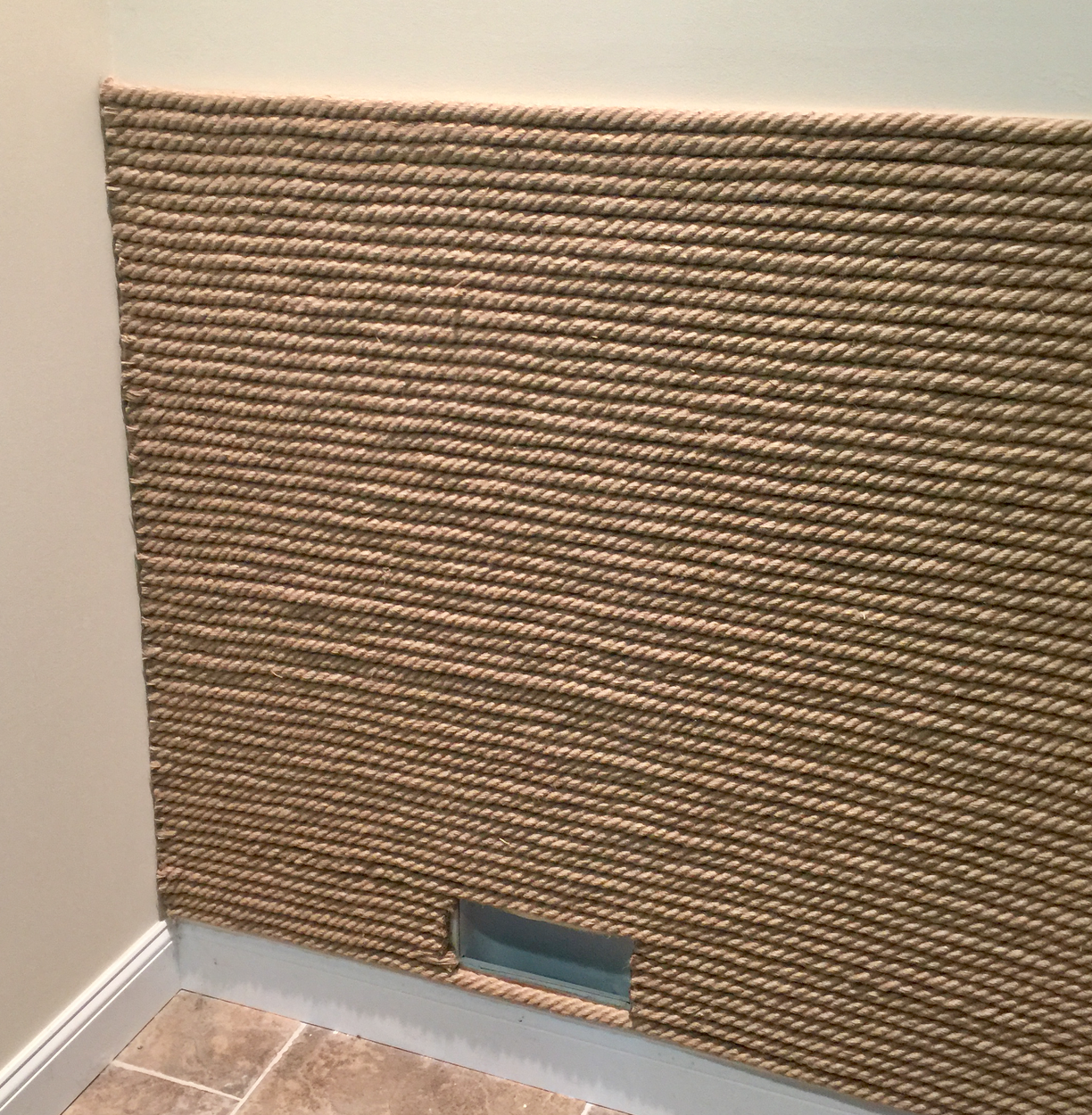 Rope accent wall beginning