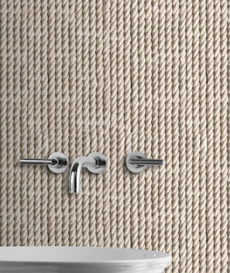 Bathroom rope wall