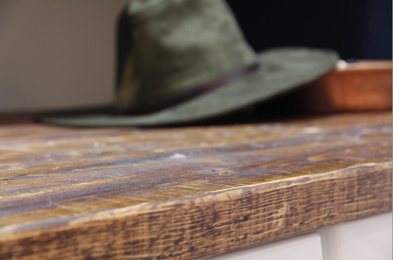 Wood folding counter