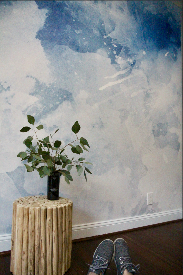 Large scale wall paper mural