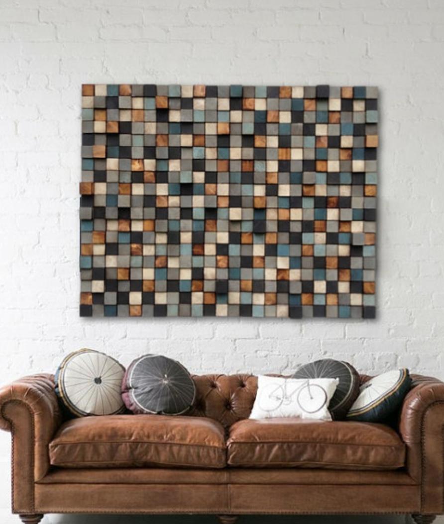 Pinterest image of wood block art