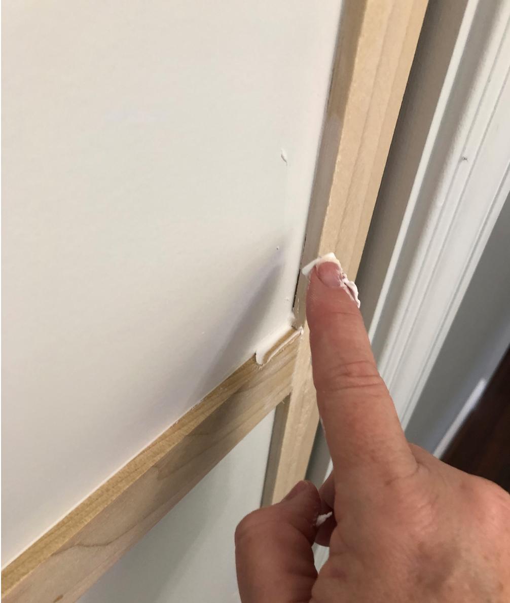 spackle wood trim