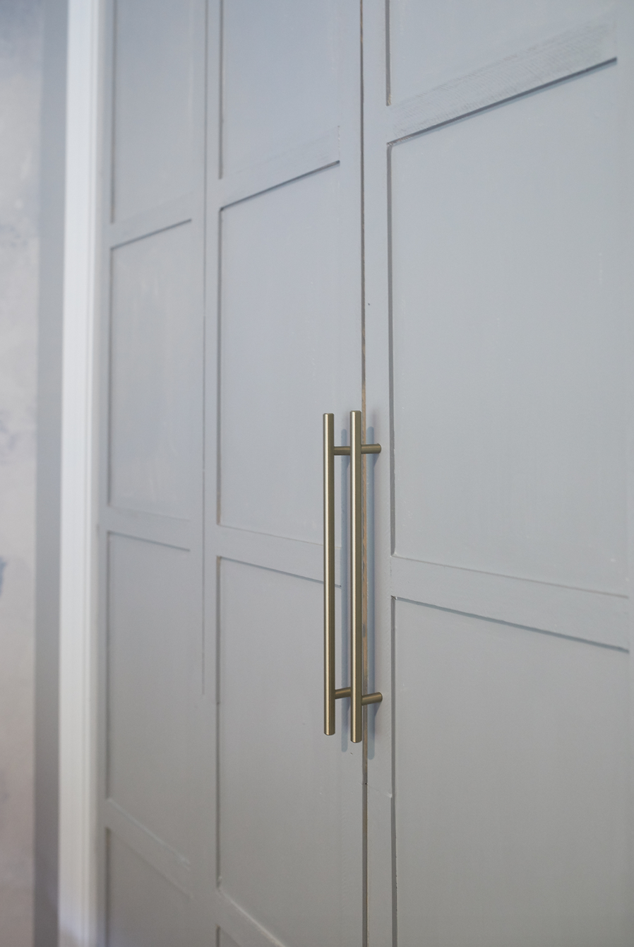 Updated Closet doors with hardware