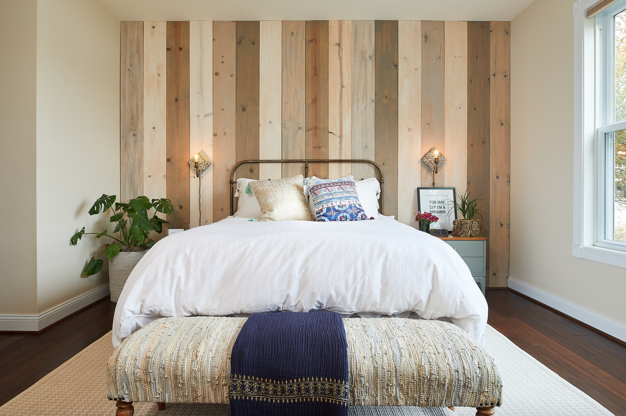 Creating Coastal Rustic Vibes In Our Master Bedroom With A Wood Wall Life Unfolding