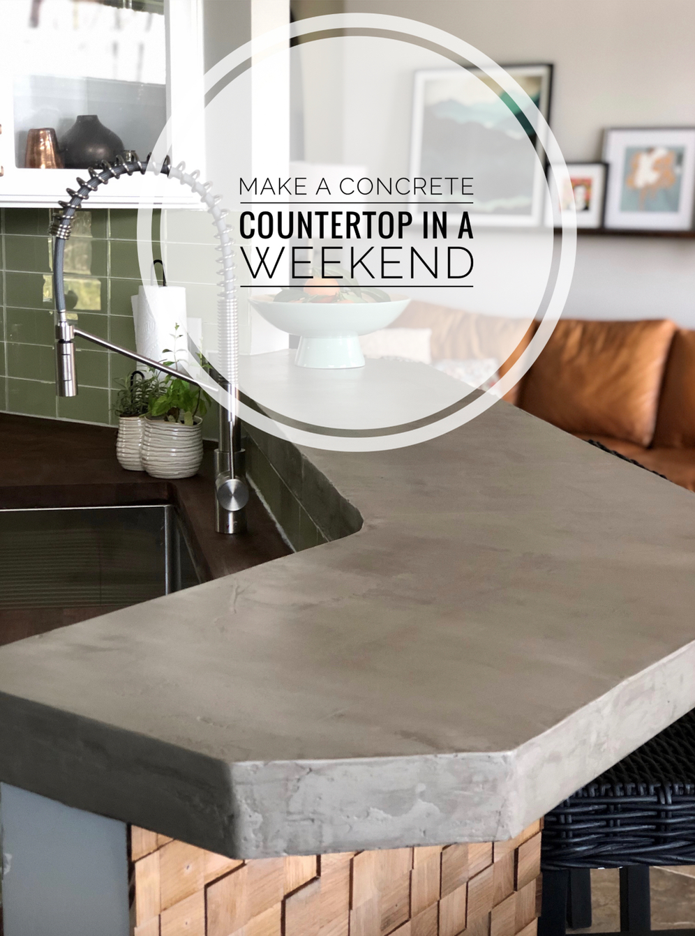 How to make a concrete counter top in a weekend.