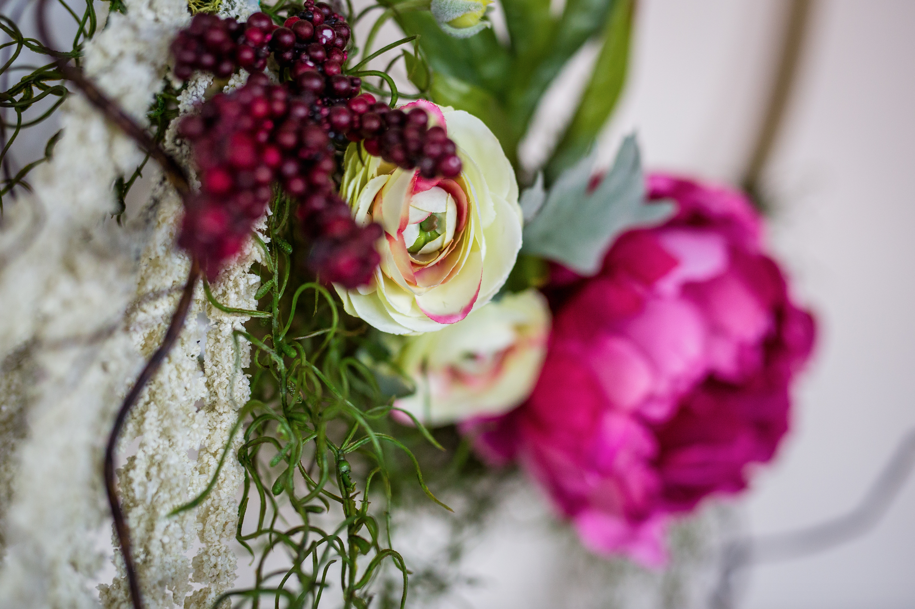 You can mix faux flowers with your fresh to get the perfect color combos.