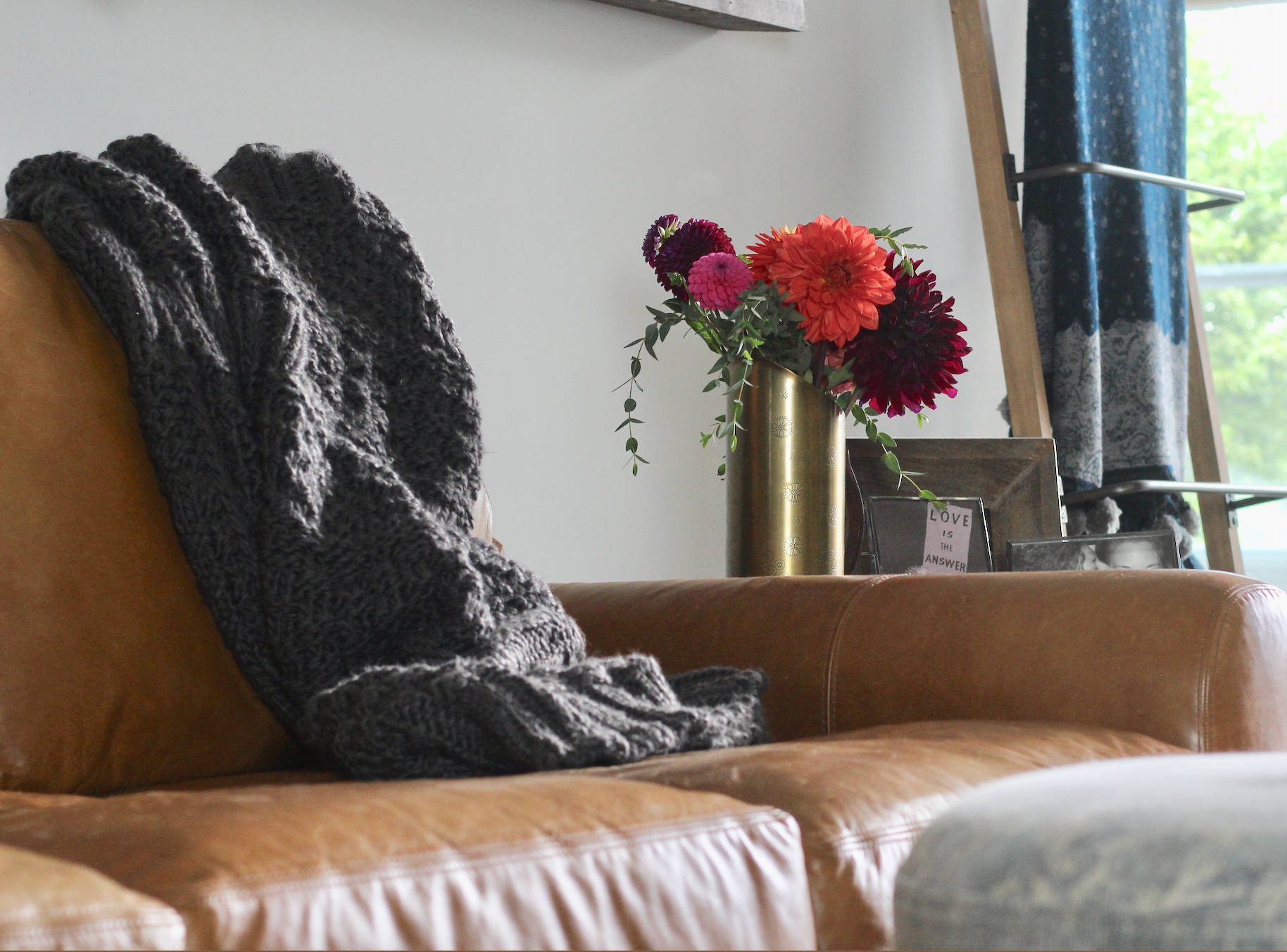 Chunky knits are perfect for Fall snuggles.