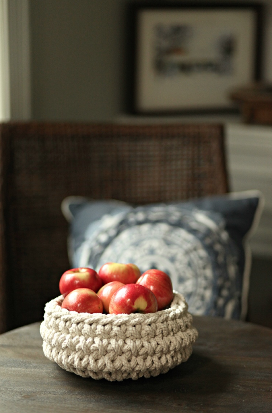 Use apples for an inexpensive fall centerpiece.