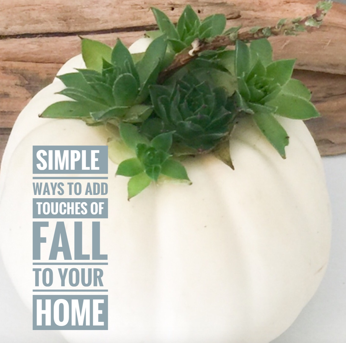 Simple Touches to add for Fall to your home.