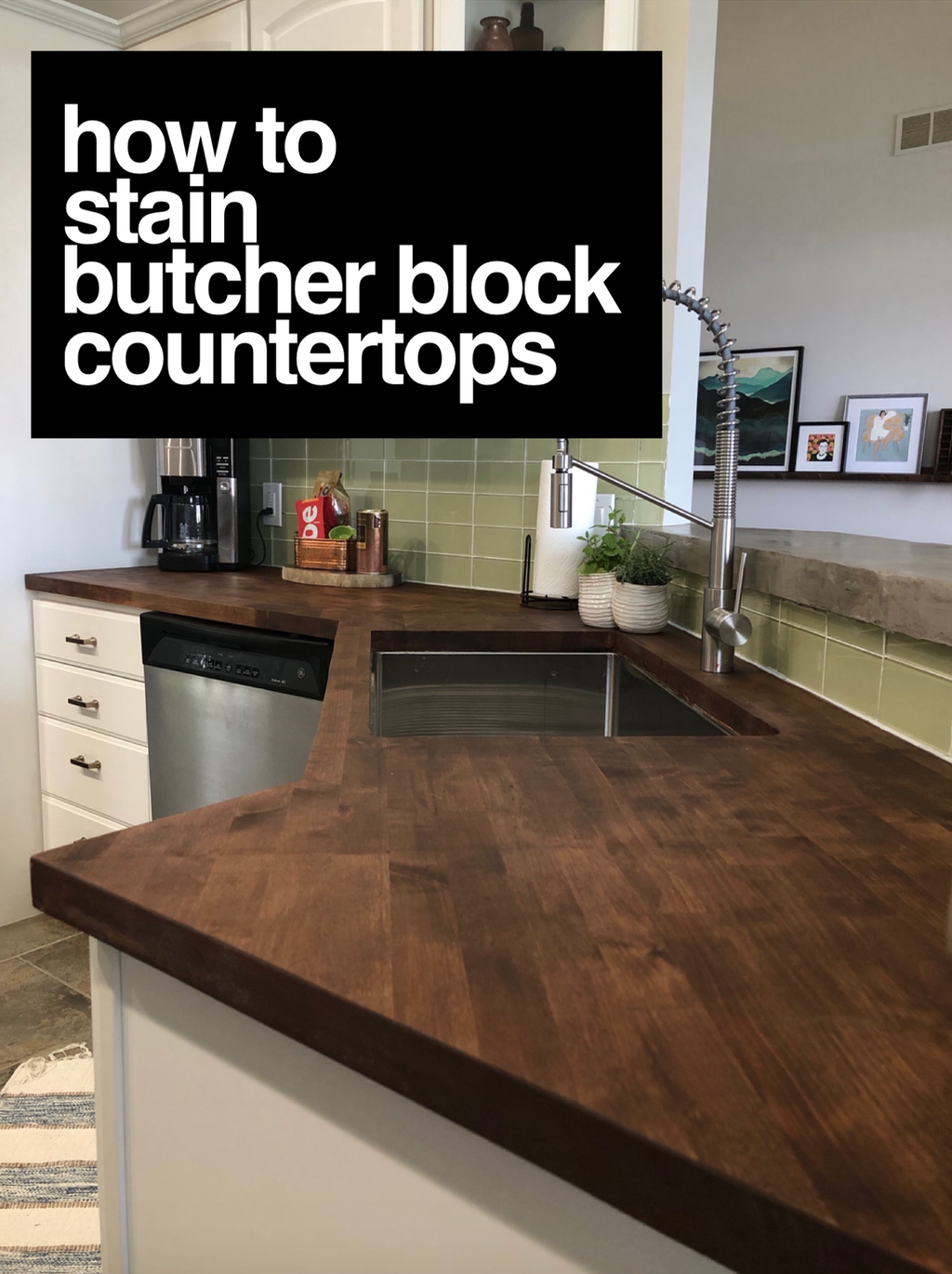 Staining My Butcher Block Counters A