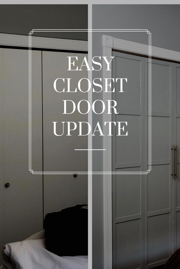 Closet Door Update Before and After