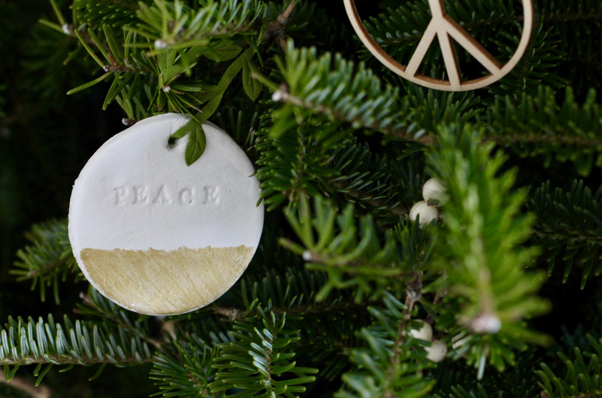 DIY Peace ornament