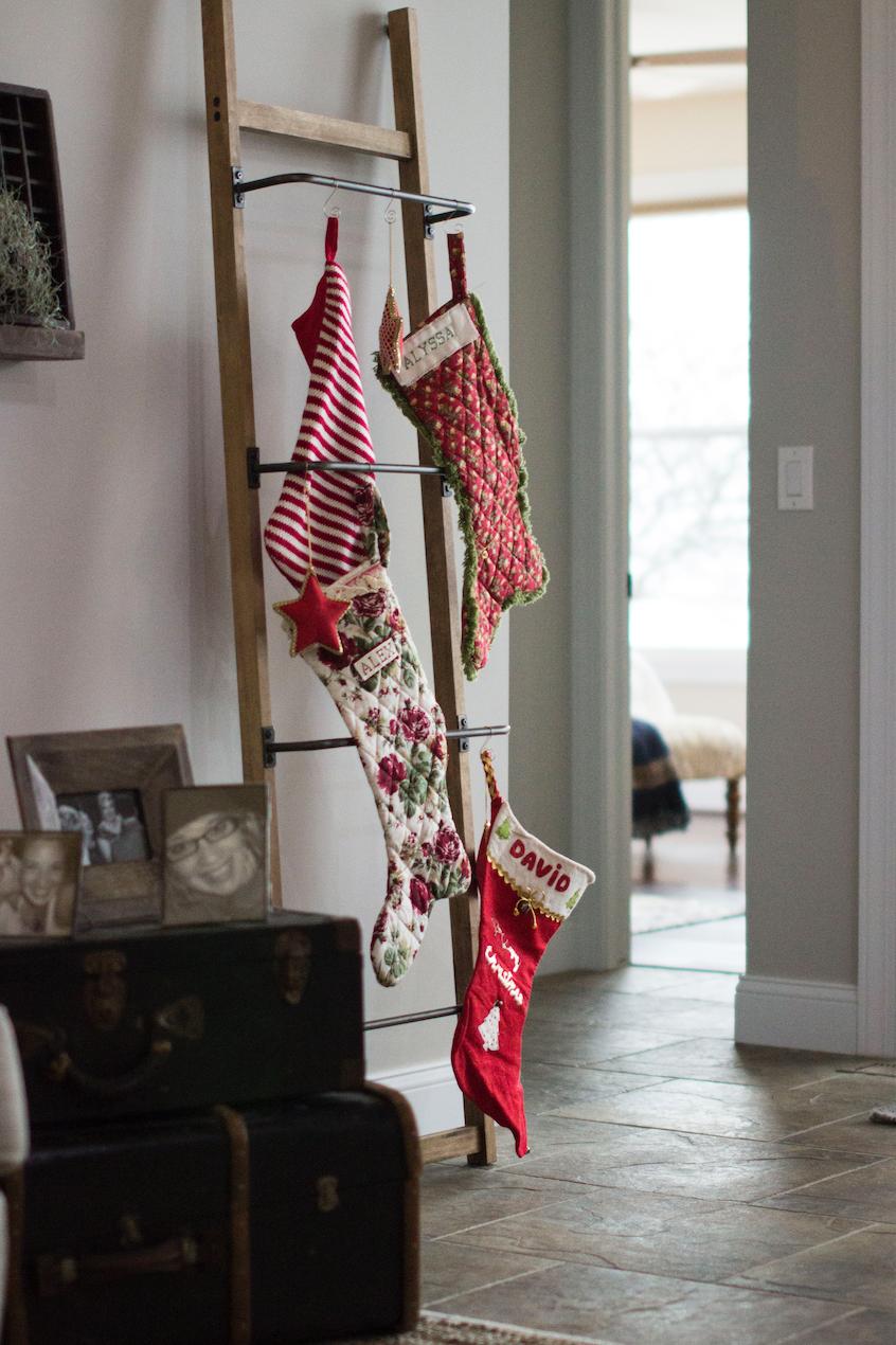 Stockings on ladder