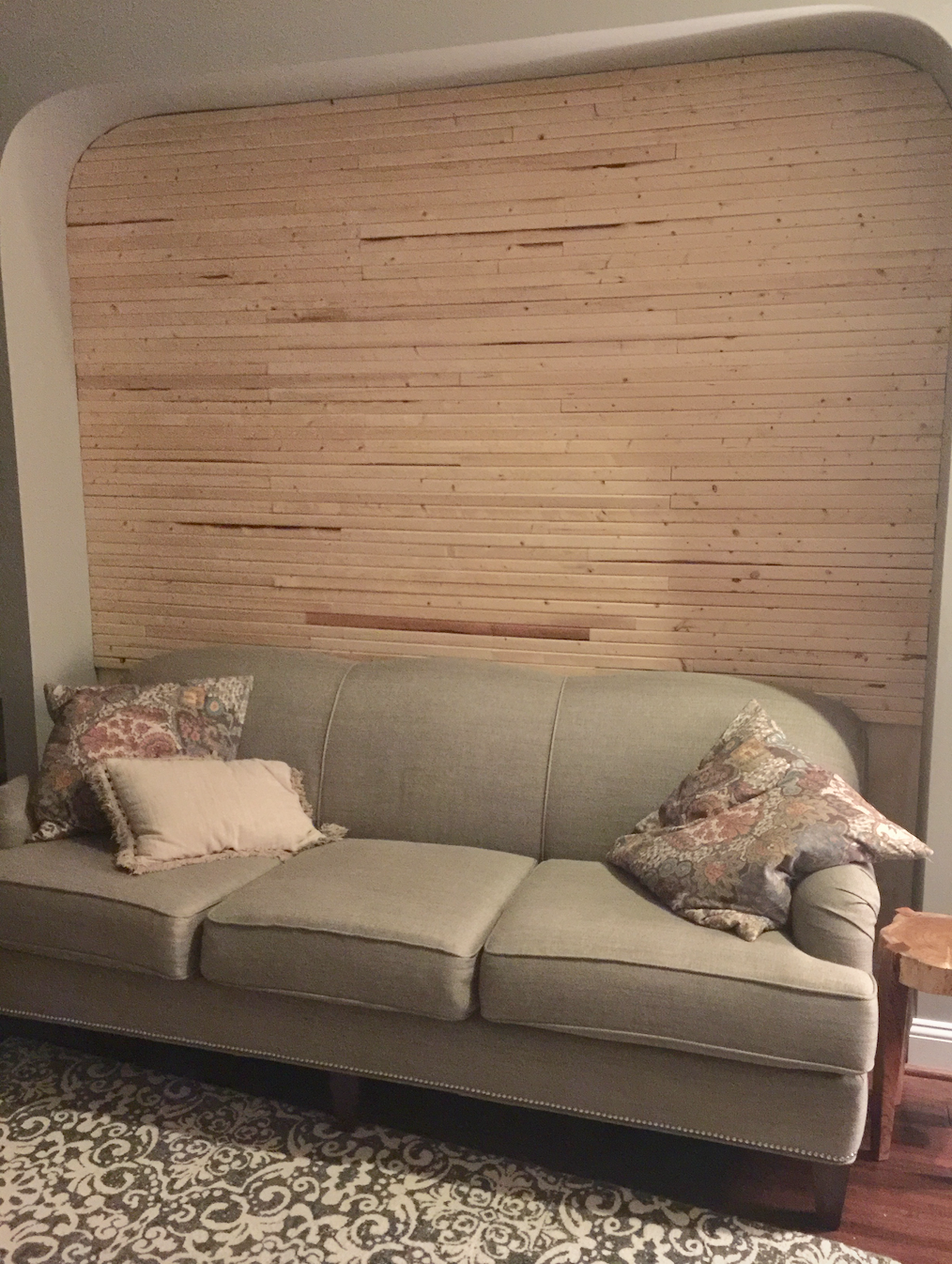 Raw wood wall