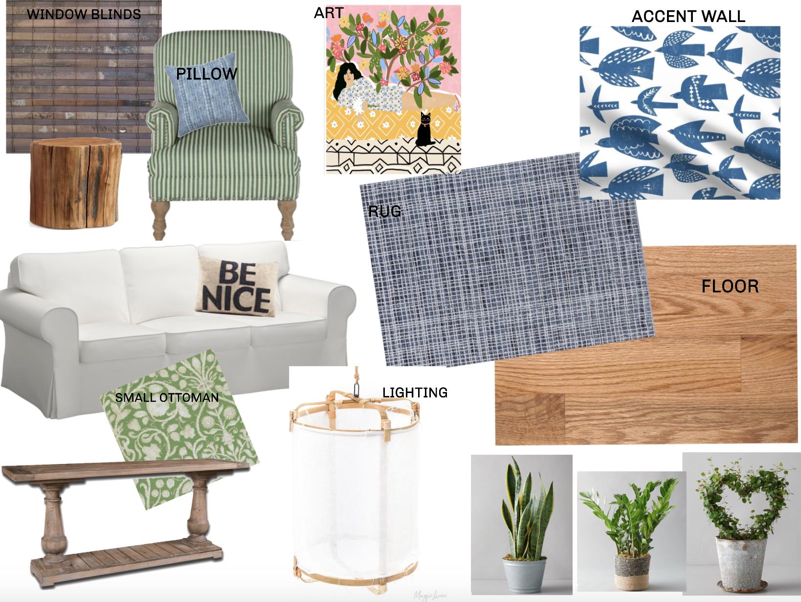 Coastal Living Room Mood Board