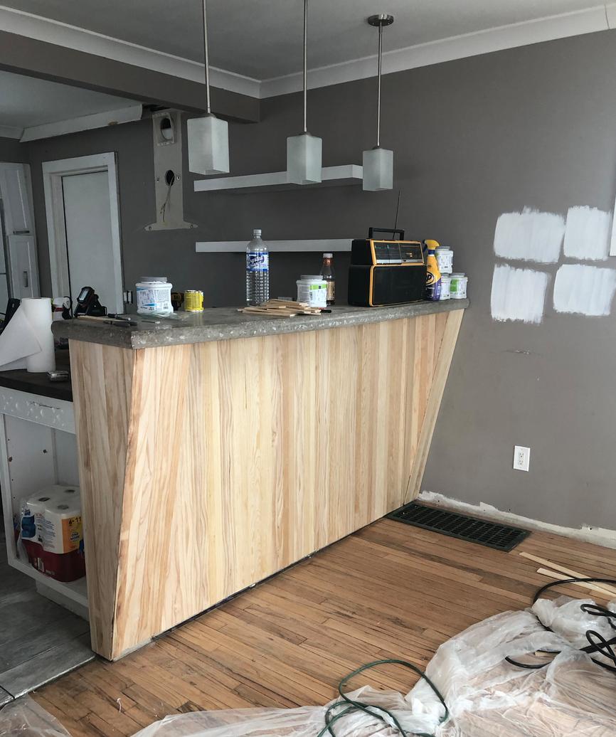 Bar Counter in Progress