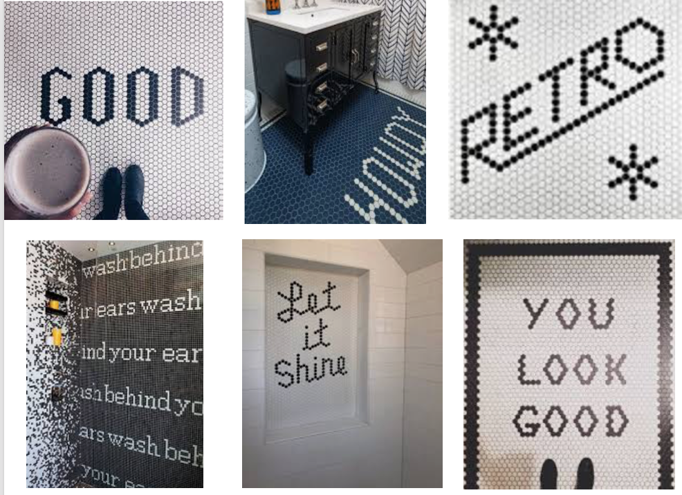 Typography in tile