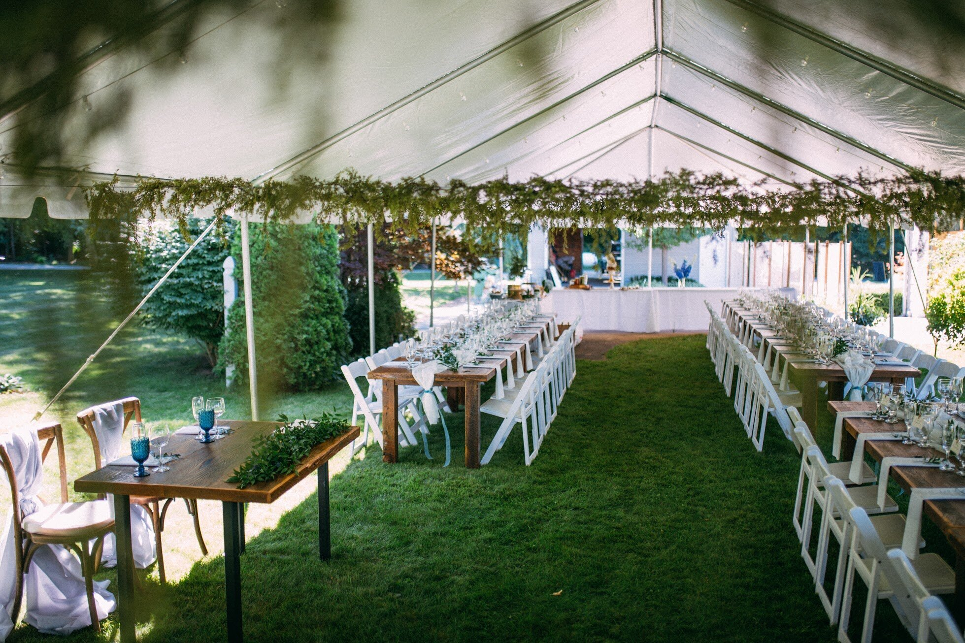 Tents for an outdoor wedding