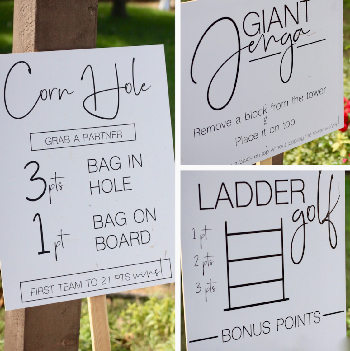 Yard games are perfect for outdoor weddings.