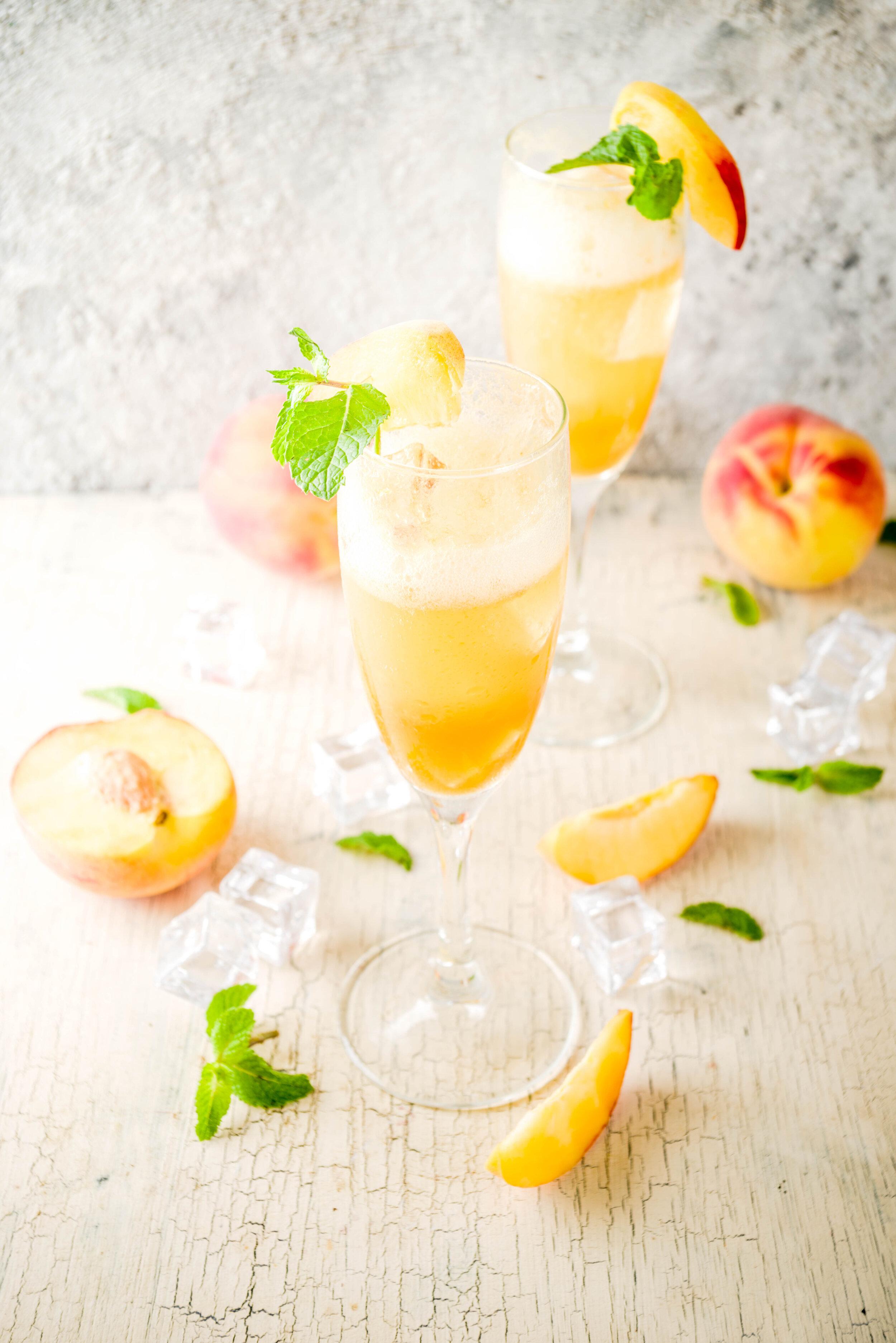 Peach Apple Cider Bellini