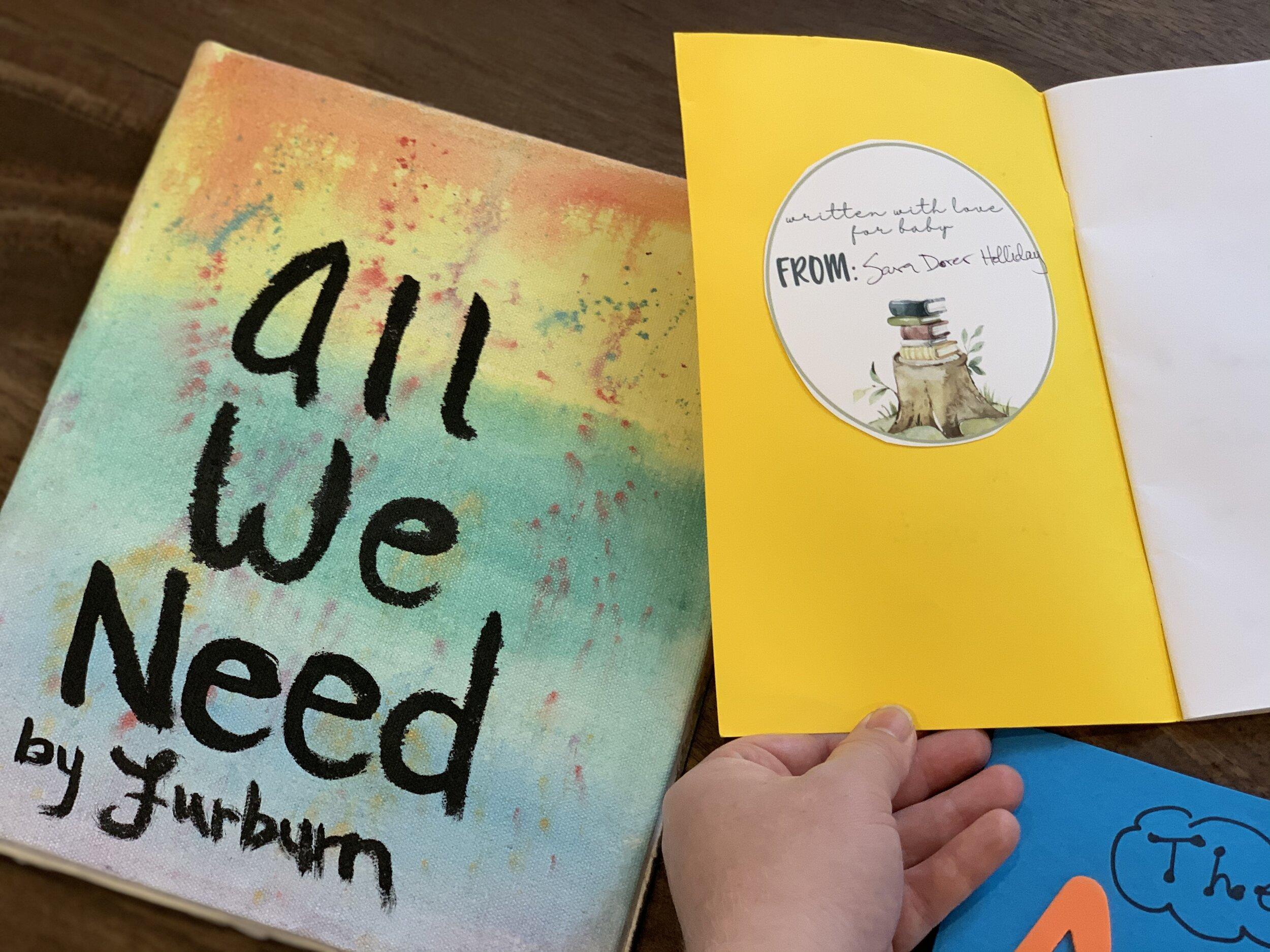 Handmade baby books