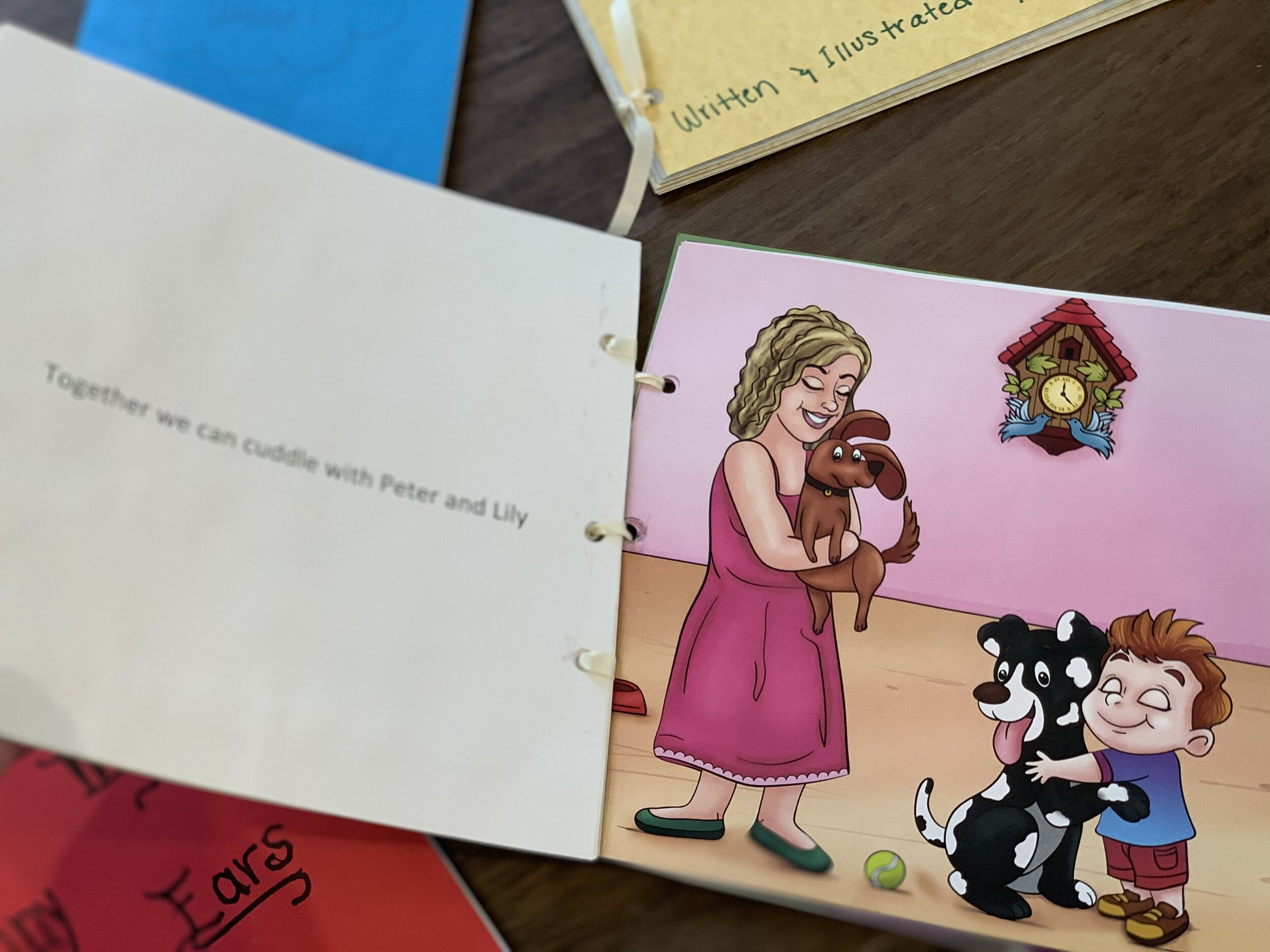 Baby book made a baby shower