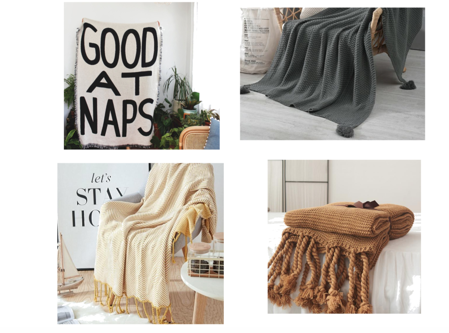 I love the spice color throw shown here.
