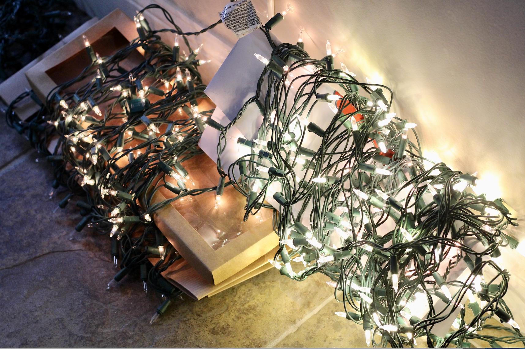 Testing the Christmas Tree lights