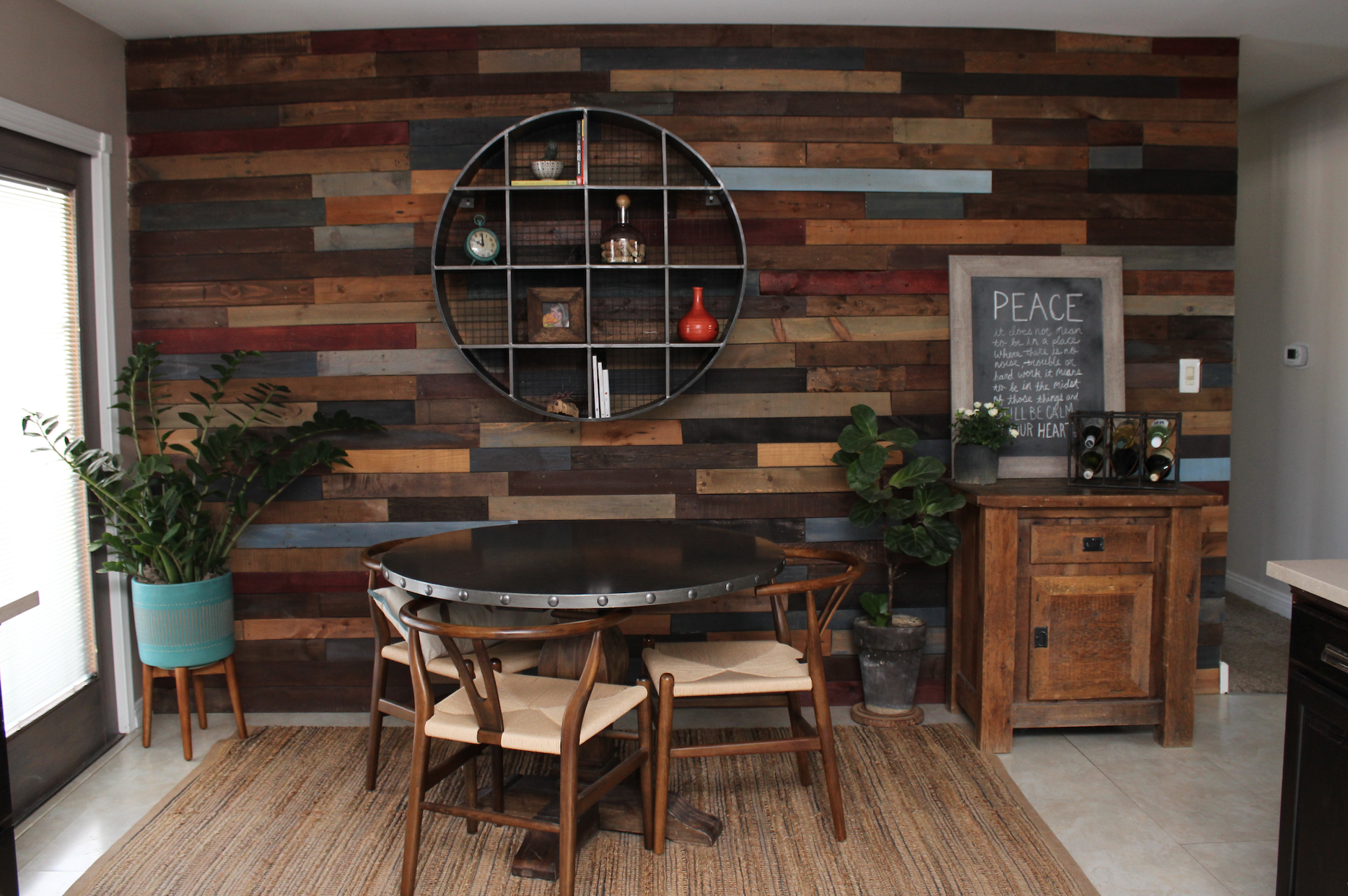 After photo of Pallet Wall
