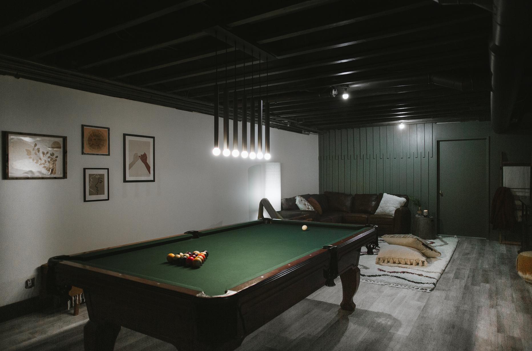Basement game room renovation One Room challenge