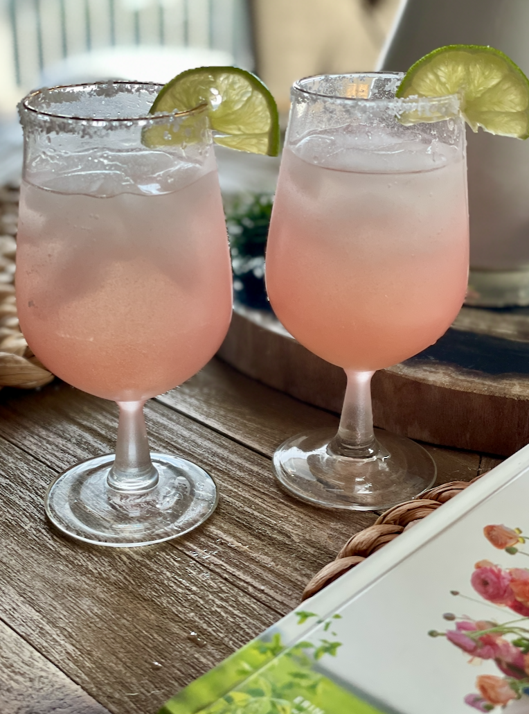 This is my favorite festive Valentine's day cocktail. I love a good margarita.
