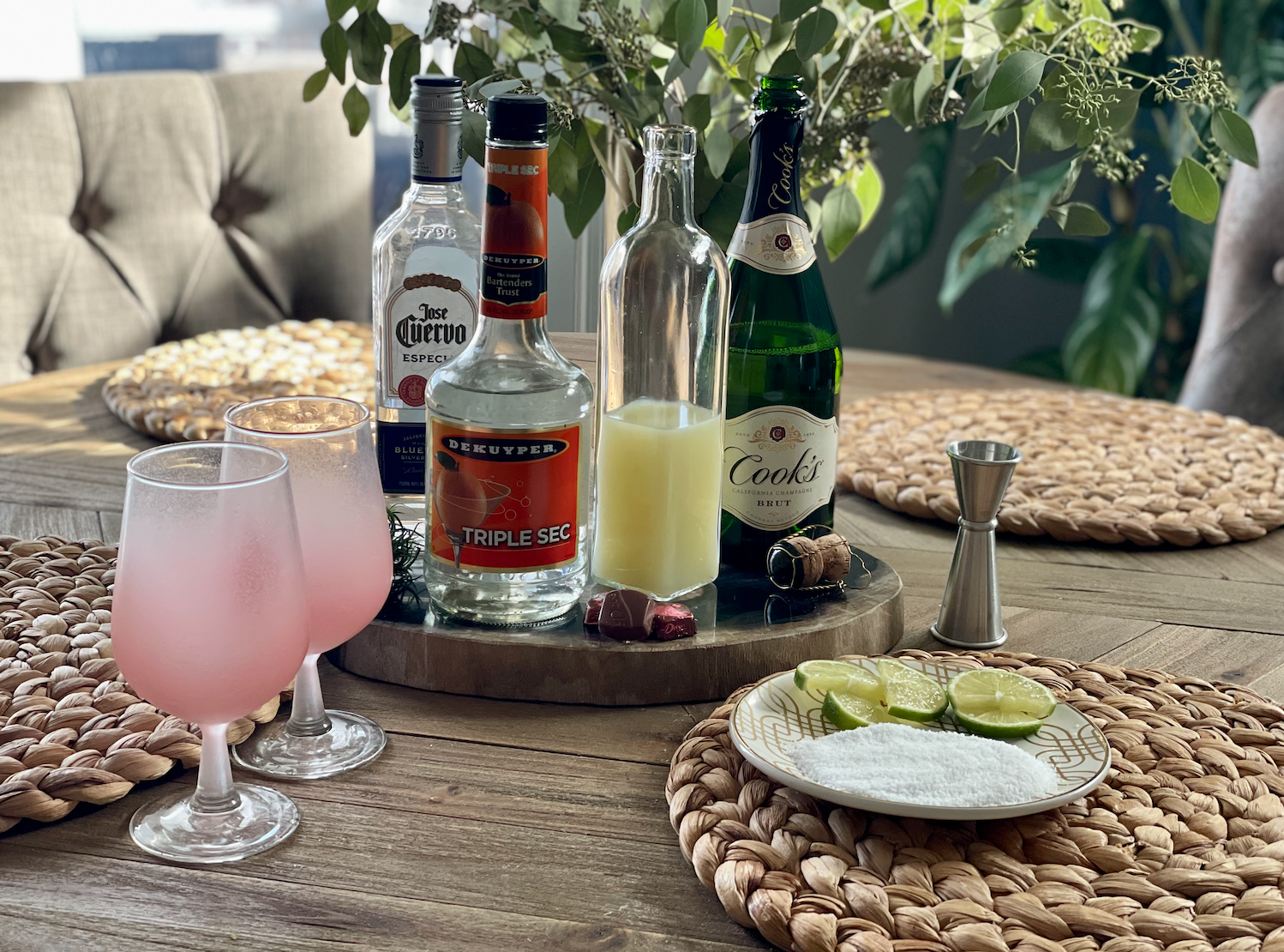 Use Pink Champagne for a pretty pink cocktail