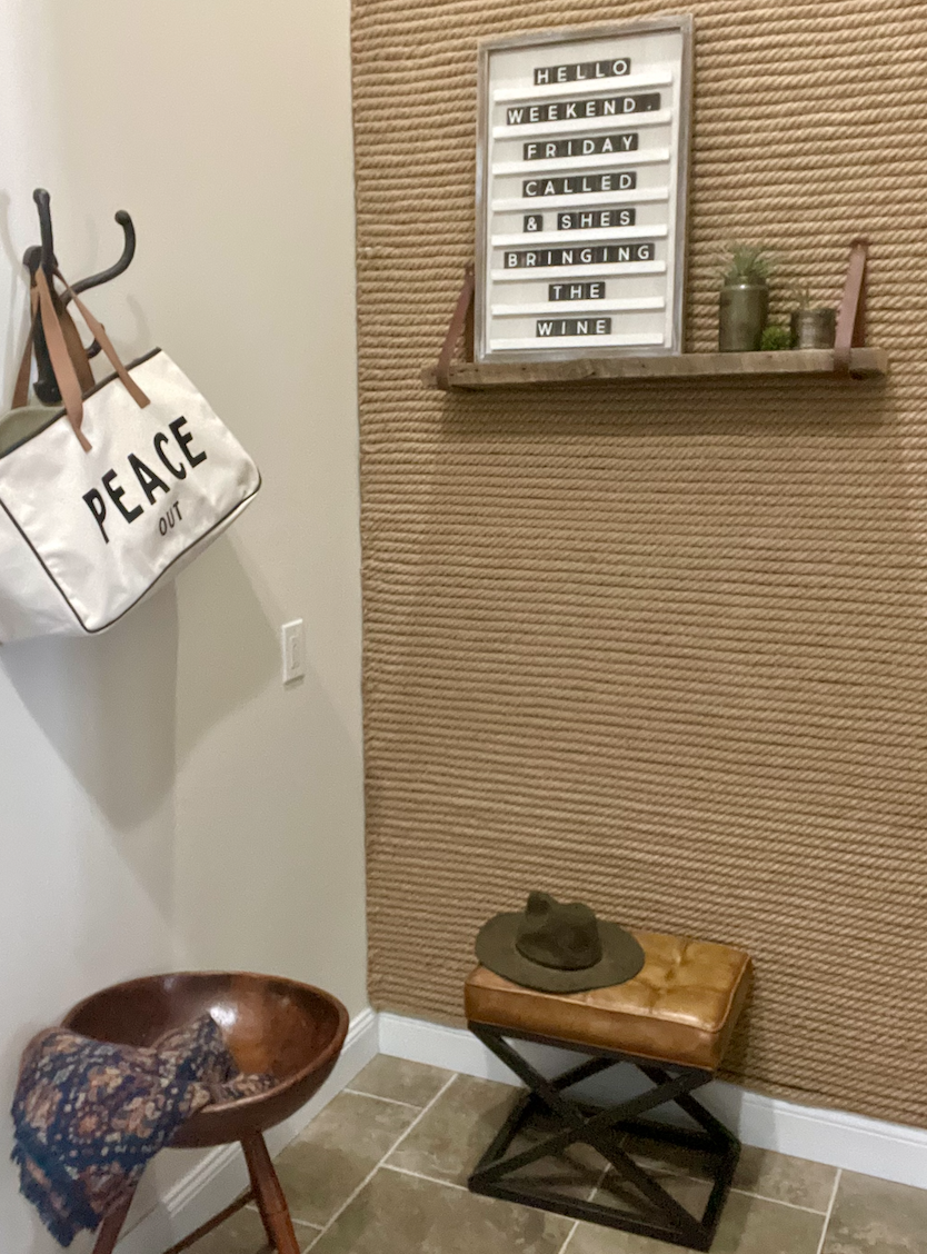 Accent wall with sign