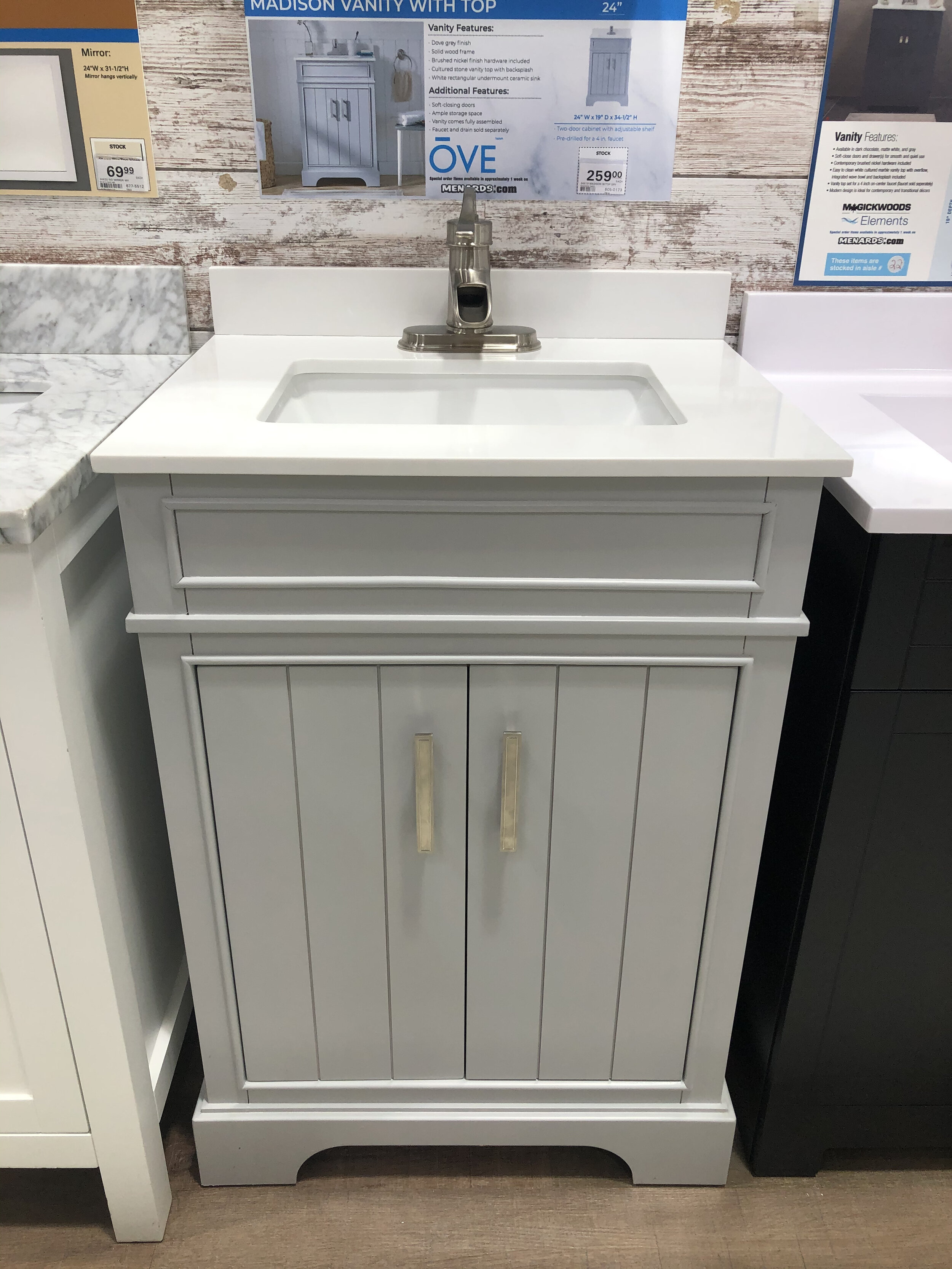 Madison Vanity cabinet with top