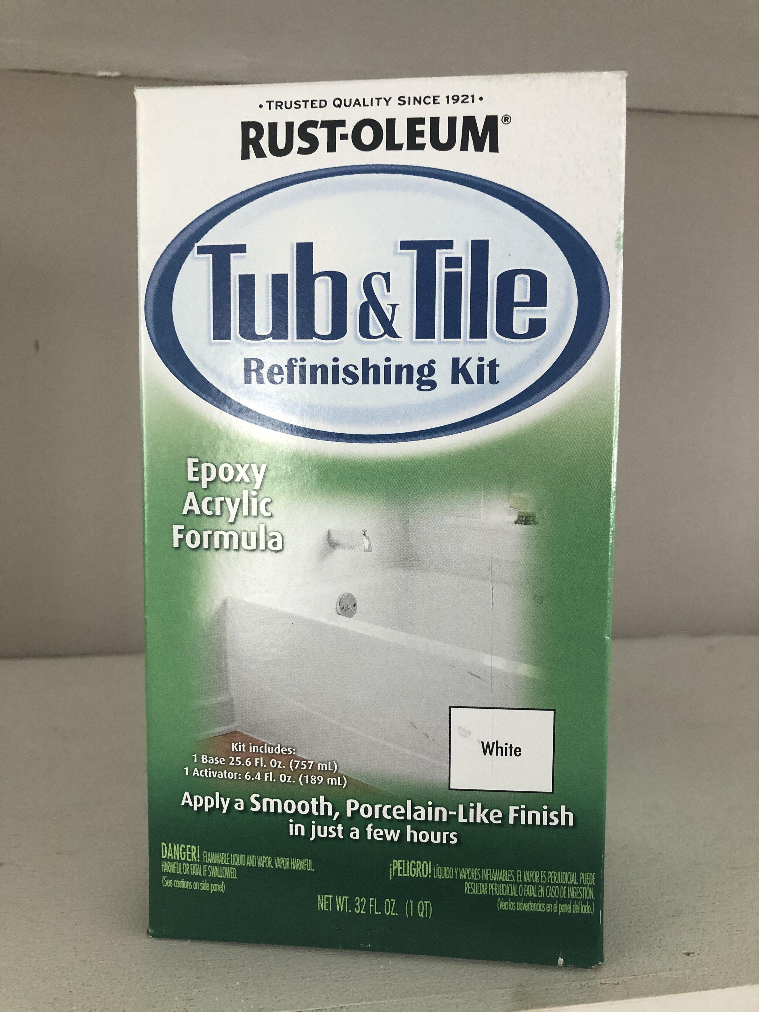 Rust-oleum Tub and Tile Refinishing Kit