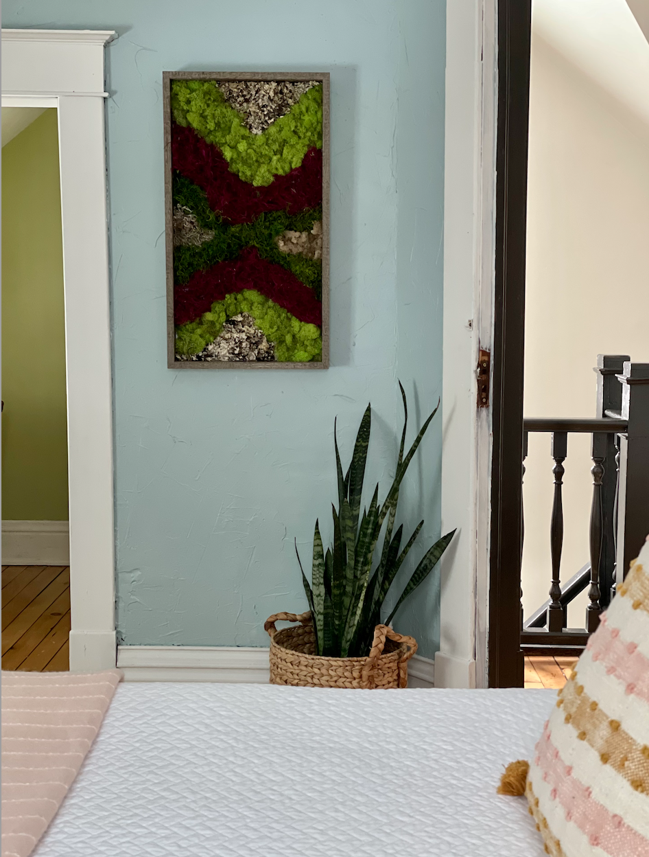 Moss Art in Bedroom