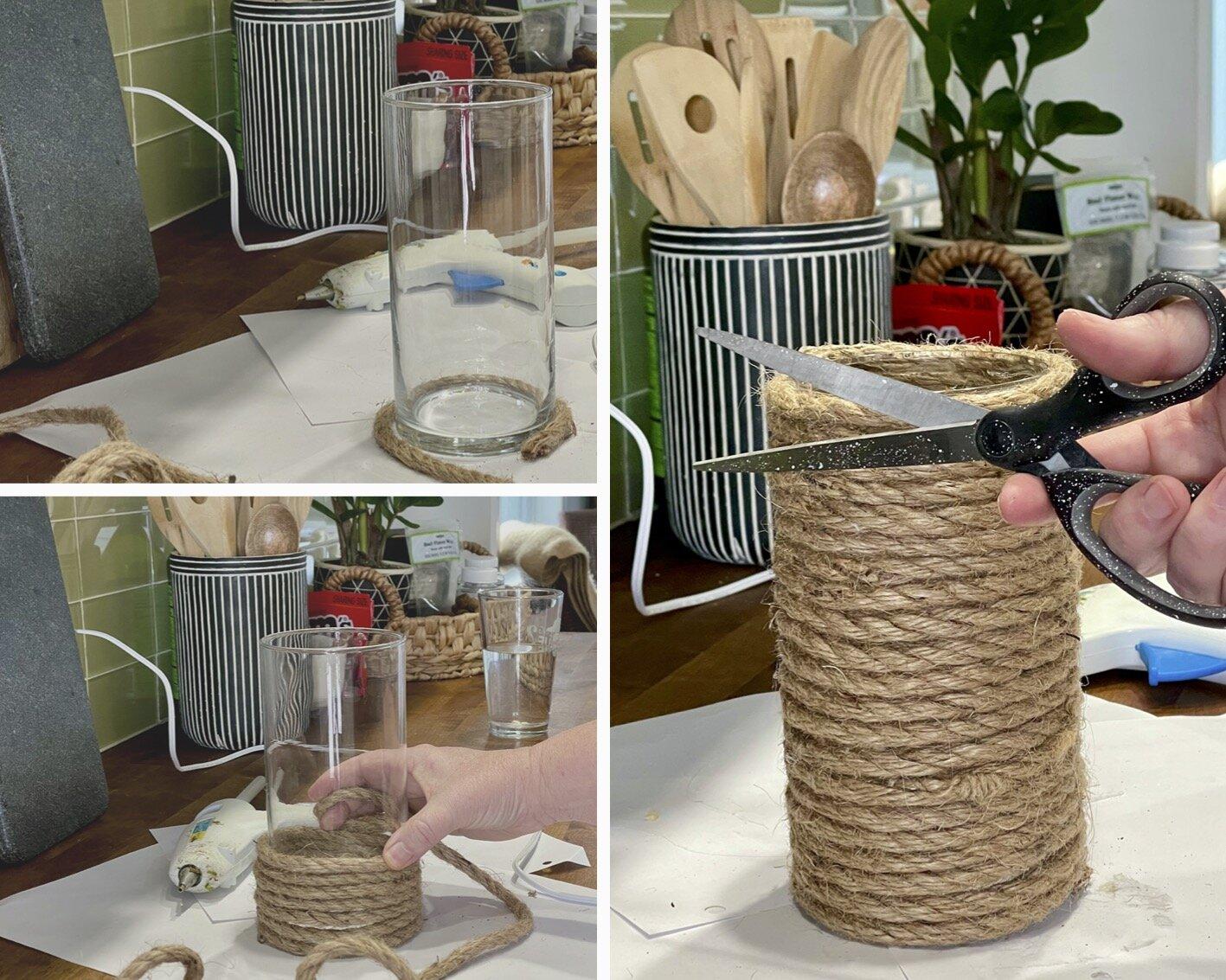 Dollar Store DIY Coastal Vase