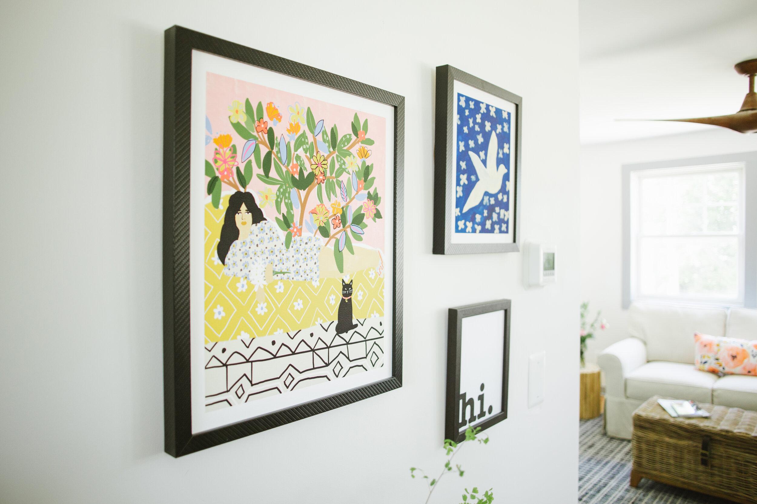Wall prints by Artfully Walls- I framed them myself.