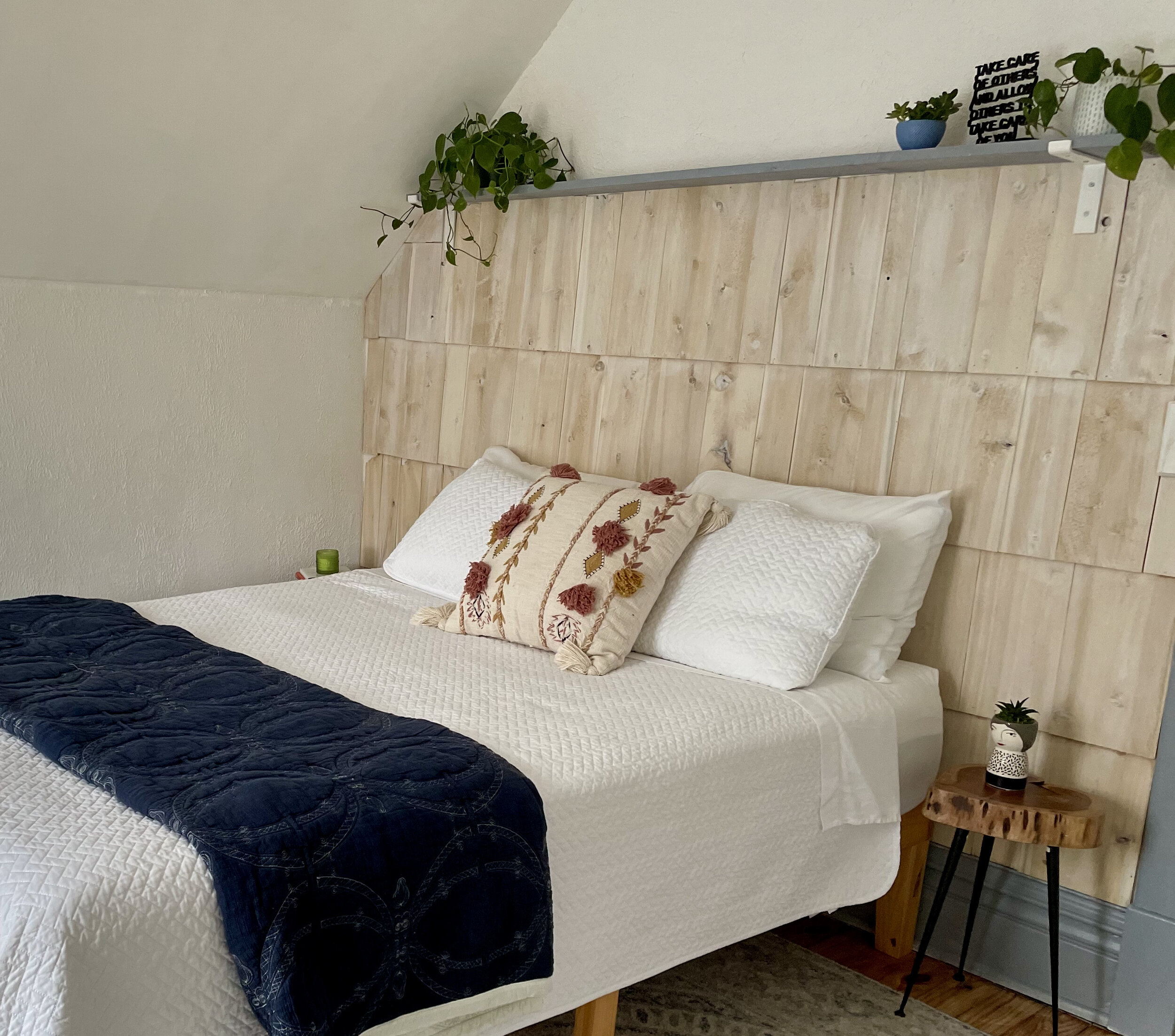Cedar Shake Bedroom Wall