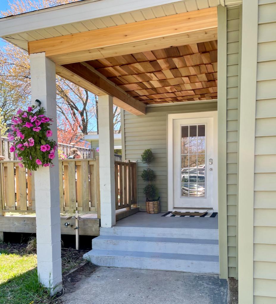Cedar Shake Ceiling on Porch