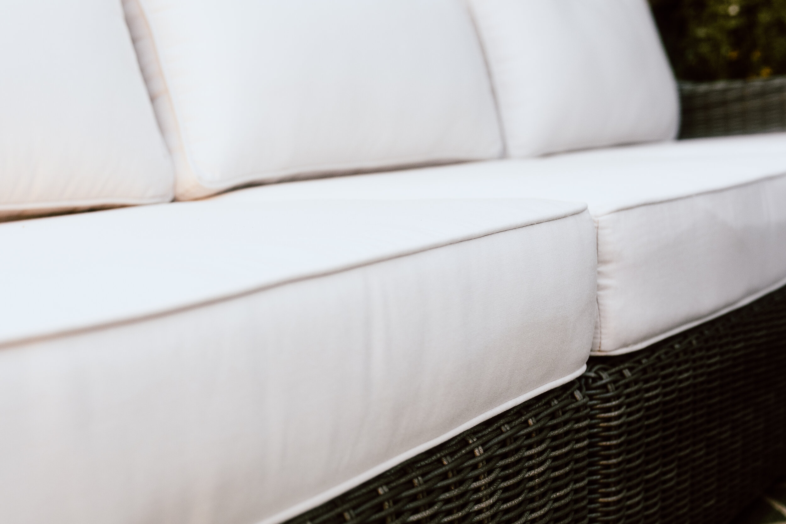 Close up of outdoor sofa Ajna Living Furniture